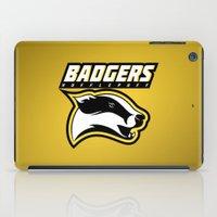 hufflepuff iPad Cases featuring Badgers Hufflepuff  by Fresco Umbiatore