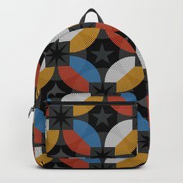 Lovely abstract hand drawn vintage geometric illustration pattern Backpack