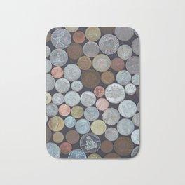 A World of Coins Bath Mat