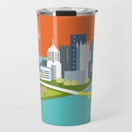 Pittsburgh, Pennsylvania - Skyline Illustration by Loose Petals Travel Mug