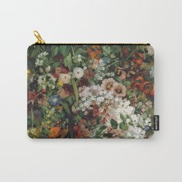 Gustave Courbet - Bouquet Of Flowers In A Vase Carry-All Pouch