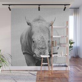 Rhino 2 - Black & White Wall Mural