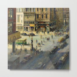 American Masterpiece 'Greenwich Village, NY' by Alfred S. Mira Metal Print