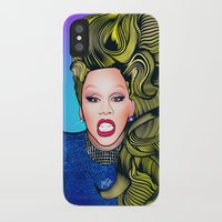 rupaul iPhone & iPod Cases featuring RUPAUL by Alli Vanes