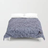 doodle Duvet Covers featuring doodle by eckoepp