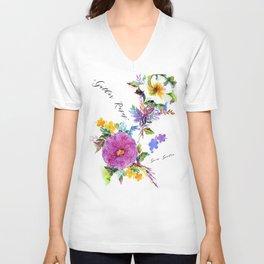 Gather Roses Unisex V-Neck