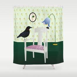 Homie Raven Shower Curtain