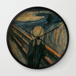 The Scream Wall Clock