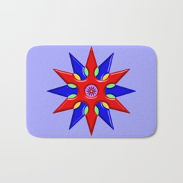 Shuriken Lotus Flower Bath Mat