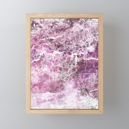 Organic Pink Abstract Marble Framed Mini Art Print