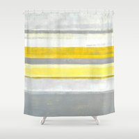 lemon Shower Curtains featuring Lemon by T30 Gallery