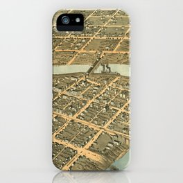 Vintage Map of Frankfort Kentucky iPhone Case