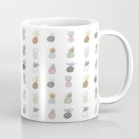 pineapples Mugs featuring Pineapples by surfed