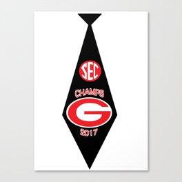 UGA SEC Champs Tie Canvas Print