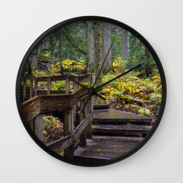 Giant Cedars Boardwalk in Revelstoke British Columbia, Canada Wall Clock