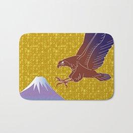 Eagle and Mt,Fuji on Gold-leaf Screen Bath Mat