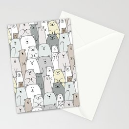 Bear family cartoon Stationery Cards