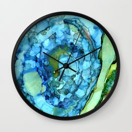 Agate Slices and Geodes Wall Clock