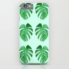 Green Monstera Leaf Pattern iPhone 6s Slim Case