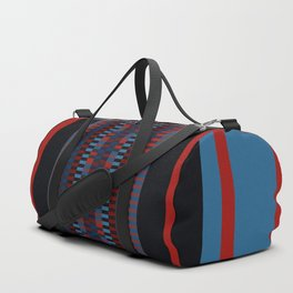 Checkered Ethnic Mosaic Pattern Duffle Bag