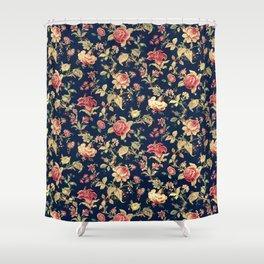 Shabby Floral Print Shower Curtain
