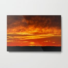 Sunset on the Bay of Fundy. Canada. Metal Print