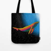 the whale Tote Bags featuring Whale by Luna Portnoi