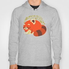 Sleeping Red Panda and Bunny Hoody