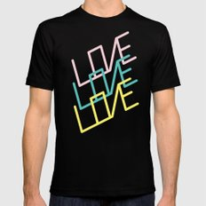 Love Mens Fitted Tee Black LARGE
