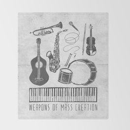 Weapons Of Mass Creation - Music (on paper) Throw Blanket