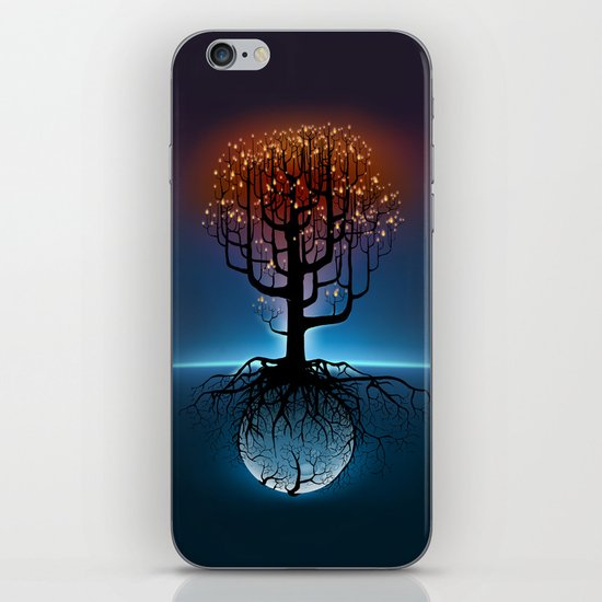 Tree, Candles, and the Moon iPhone & iPod Skin