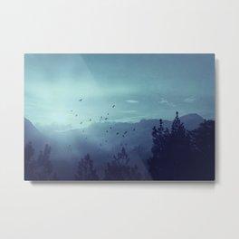 Spielerei - Sunrise over the Italian Alps Metal Print