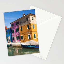 Colorful houses Stationery Cards