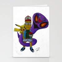 simpson Stationery Cards featuring Bart Simpson  by Pursuit_Art