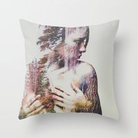 andreas preis Throw Pillows featuring Wilderness Heart #3 by Andreas Lie