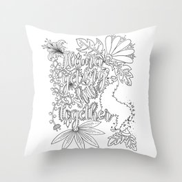 Llama Get My Shit Together Adult Coloring Design Throw Pillow