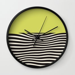chartreuse green, Mid century modern, mid-century wall art, print, geometric wall art, abstract wall art, interior, matisse, picasso, drawing, decor, design, bauhaus, abstract, decoration, home, gift, contemporary, paint Wall Clock
