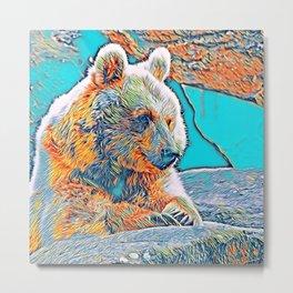 AnimalMix_Bear_001_by_JAMColors Metal Print