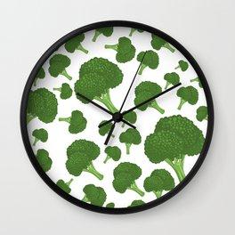 I Love Broccoli Wall Clock