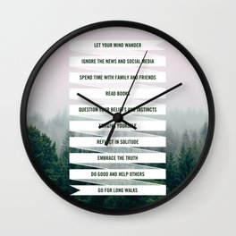 Things To Do Wall Clock