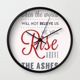 Rise! Wall Clock