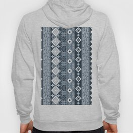Colorful Aztec pattern with dirty blue. Hoody
