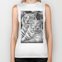tigers Biker Tanks featuring Two Tigers by Thubakabra