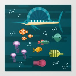 Sea animals 2 Canvas Print