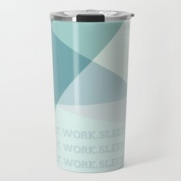 Green Geometric Artwork  Travel Mug