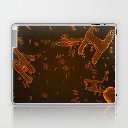 Abstract orange virus cells Laptop & iPad Skin