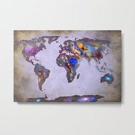 Stars world map. Space. Metal Print