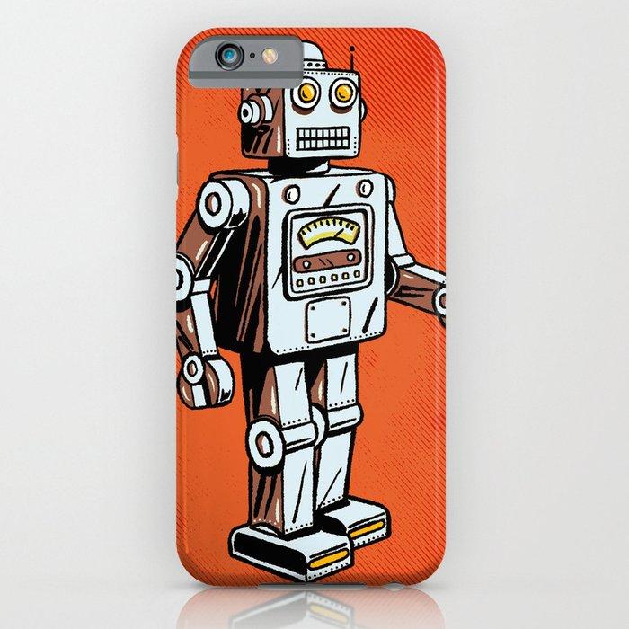 retro robot toy iphone case