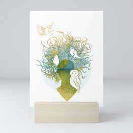 Spring birds Mini Art Print