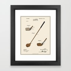 Golf Club Patent - Colour Framed Art Print